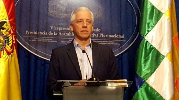 """""""Basta de violencia, acepten vía institucional"""": Vicepresidente de Bolivia"""
