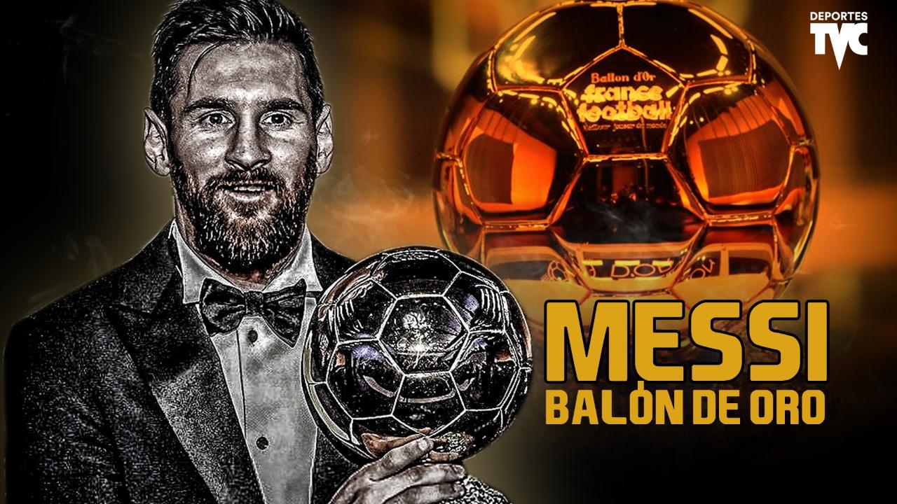 Oficial: Lionel Messi gana su sexto Balón de Oro