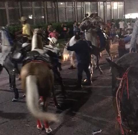 Desfile hípico en Choluteca.