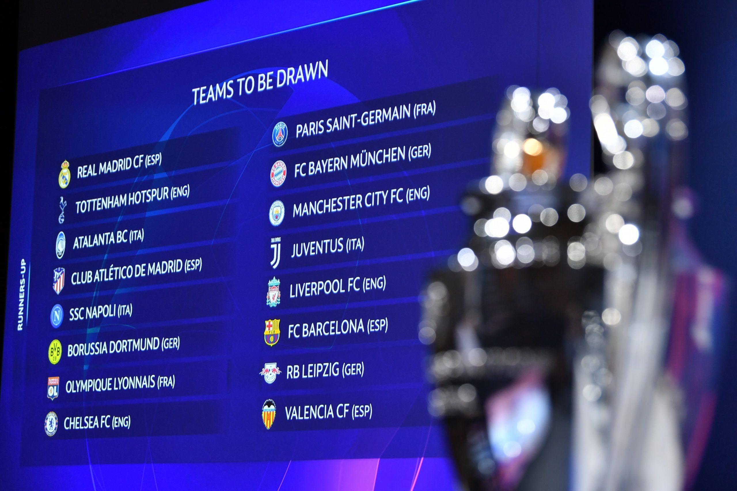 Estos son los cruces de octavos de final de la UEFA Champions League