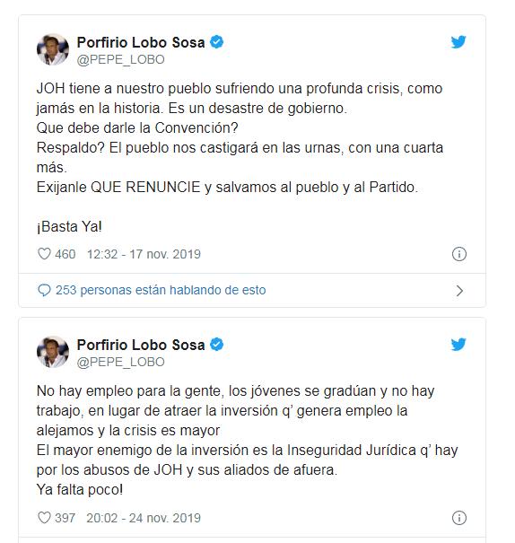 Exmandatario Lobo Sosa