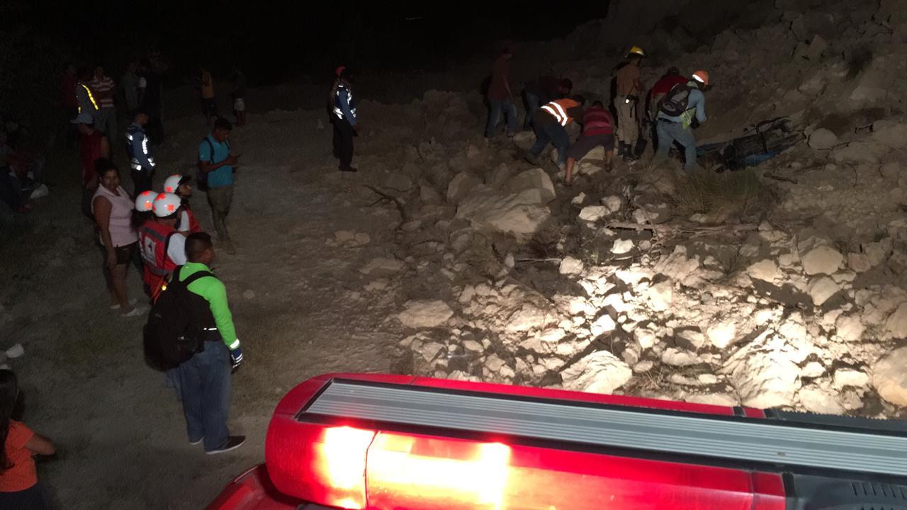 Alud de tierra cae sobre camión en Comayagua, socorristas descartan víctimas o lesionados