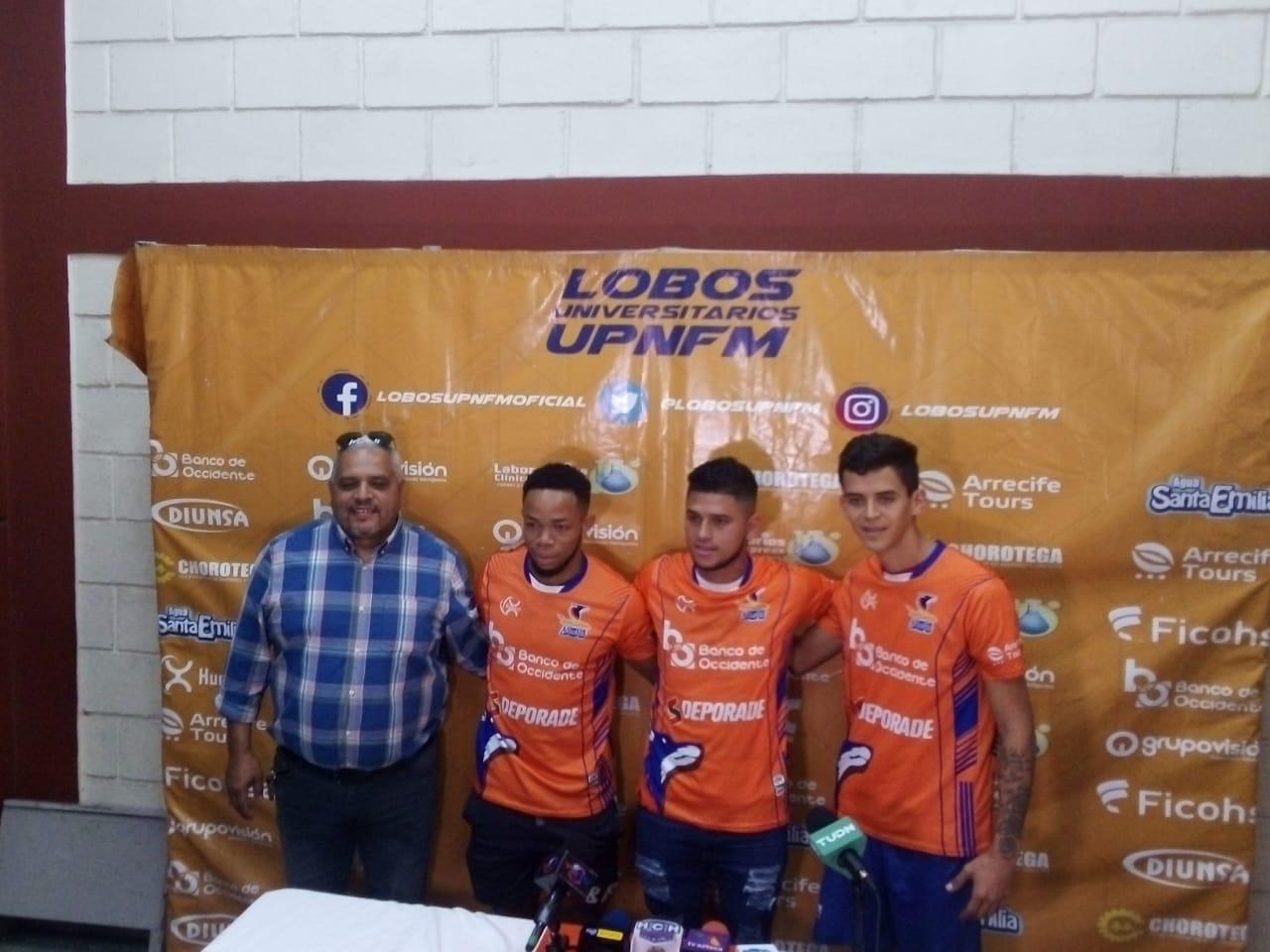Estos son los tres nuevos integrantes de la manada de los Lobos UPNFM