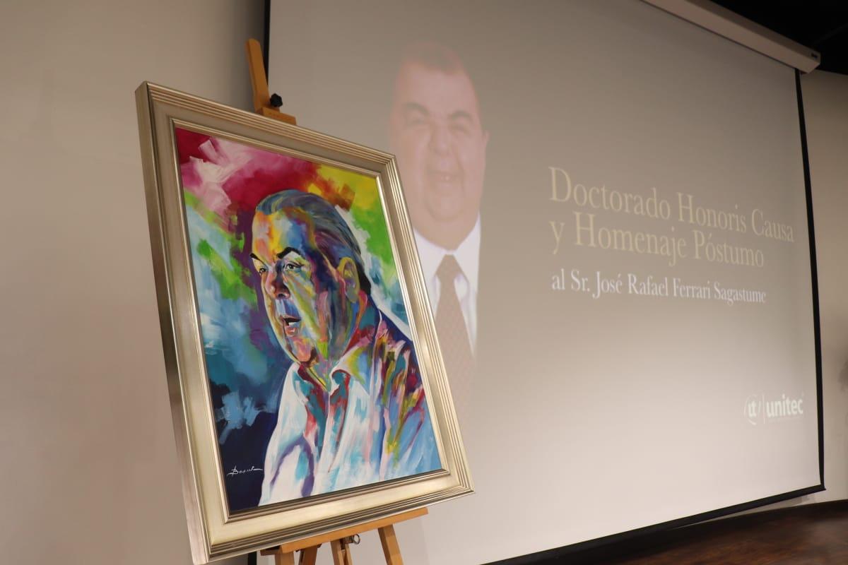Unitec realiza homenaje póstumo al señor José Rafael Ferrari