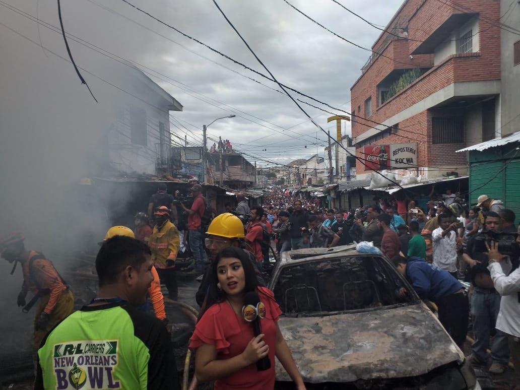 Cámaras captan momento en que explota bodega en Comayagüela