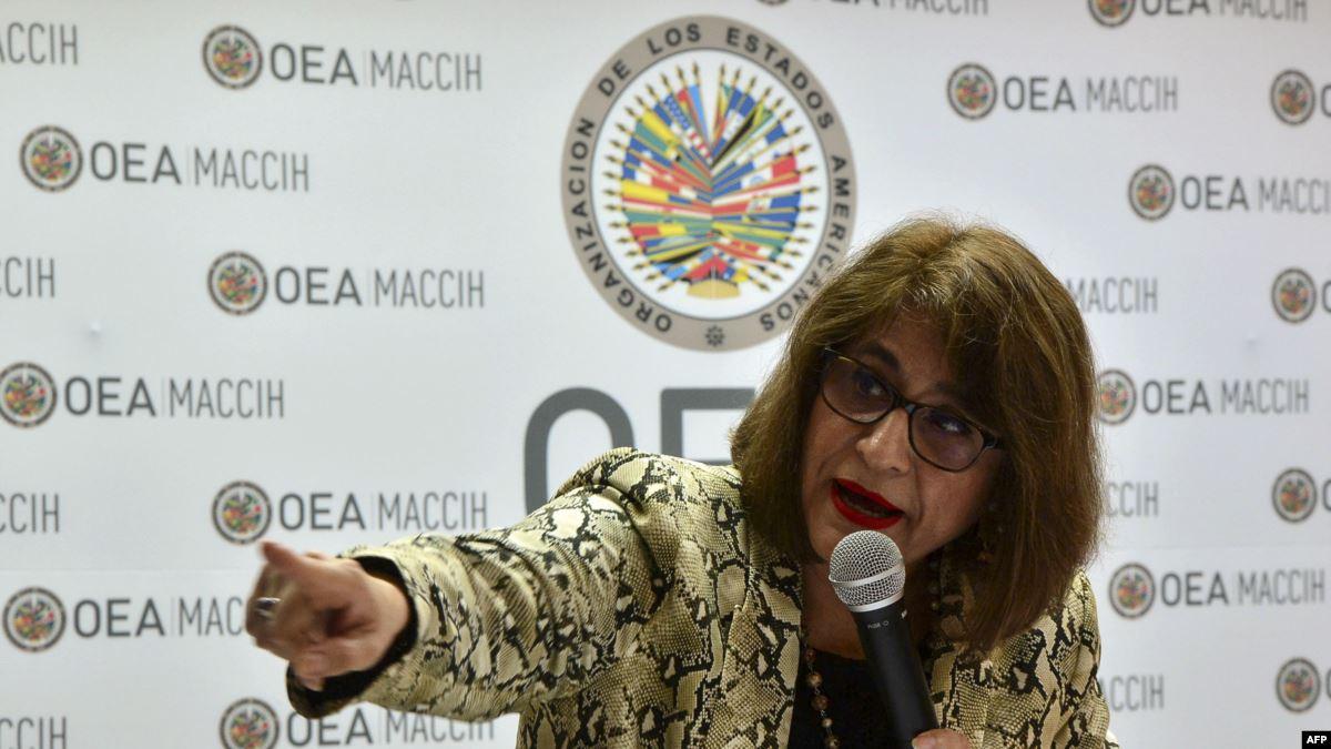 Renuncia la vocera de la Maccih, Ana María Calderón