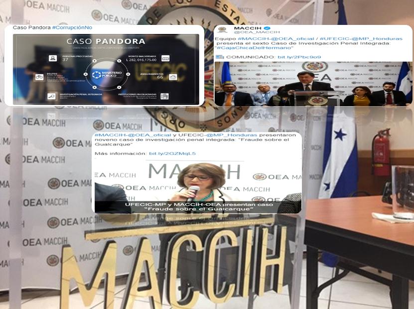 Estos los casos de corrupción presentados por la Maccih