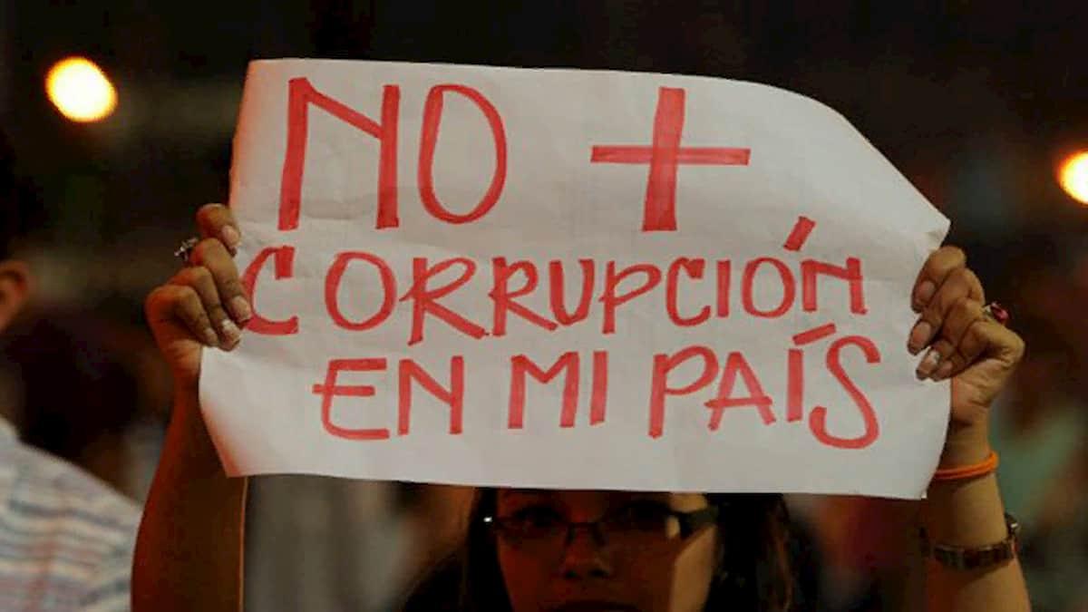No más corrupción en Honduras.