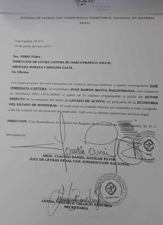 """Está es la razón, por la que  """"Mochito"""" Matta no podría ser extraditado a Honduras"""