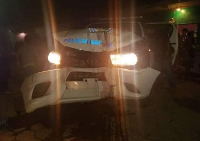 Sancionarán a policías ebrios que chocaron patrulla nueva en Santa Bárbara