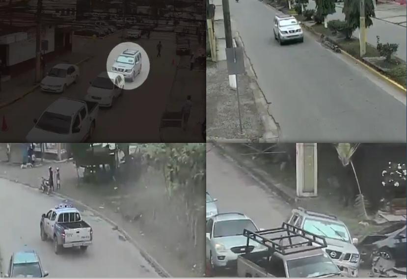 ¡Como de película! Policía realiza intensa persecución dejando la captura de cuatro asaltantes