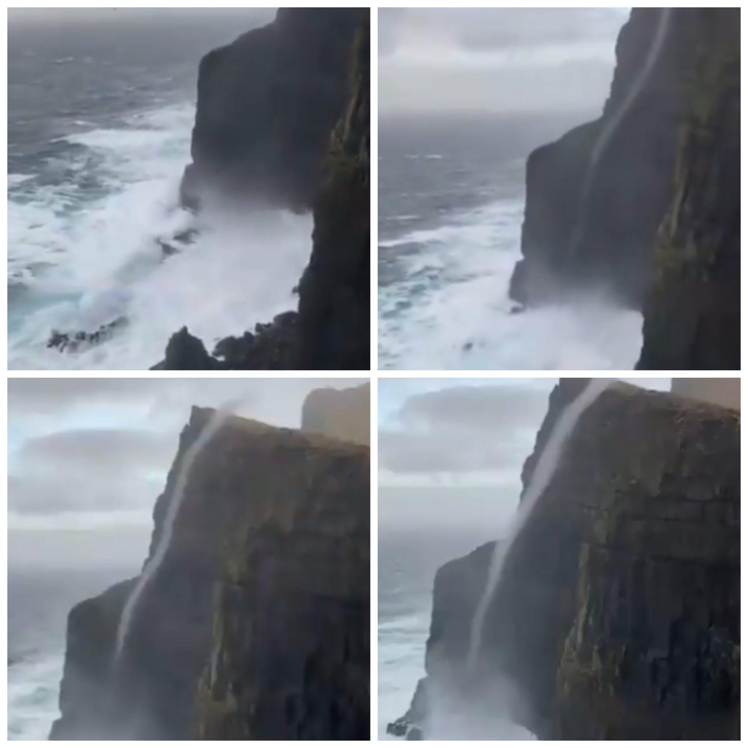 Vídeo capta remolino de agua que sube casi 500 metros en Dinamarca