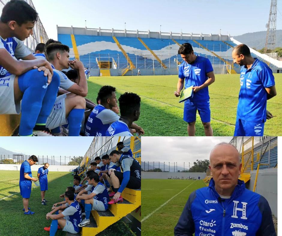 Coito visitó el entrenamiento de la Sub-20 de Reynaldo Tilguath.