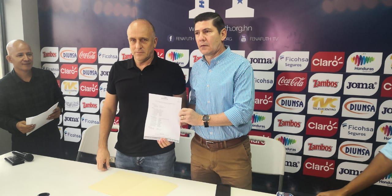 Fabián Coito convoca 26 jugadores para el primer microciclo de la Sub-23 de Honduras