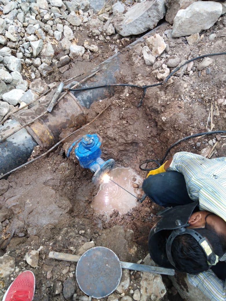 Cortan pegue clandestino de agua en la capital