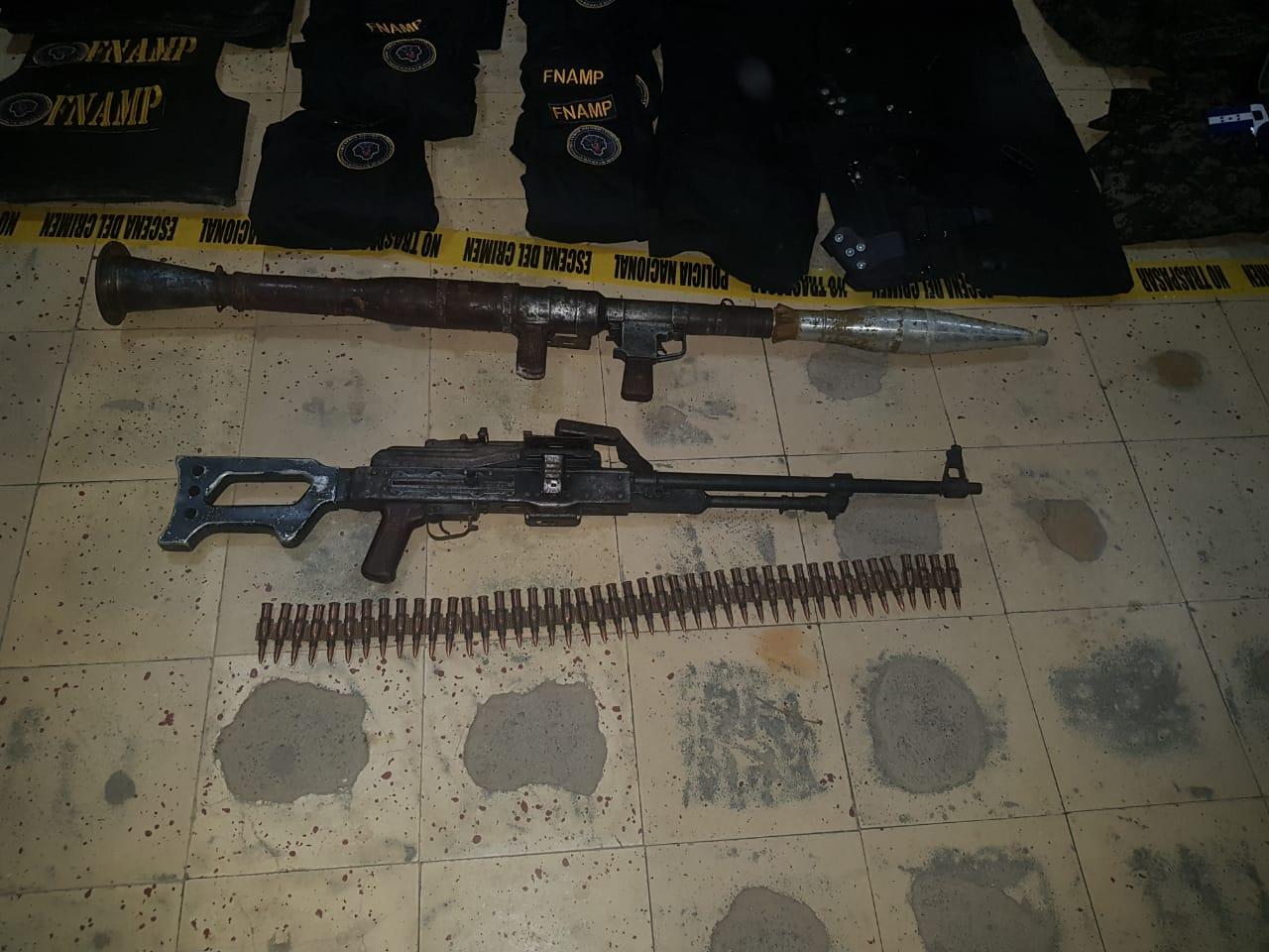 35 armas largas de grueso calibre e indumentaria militar deja operativos en El Progreso