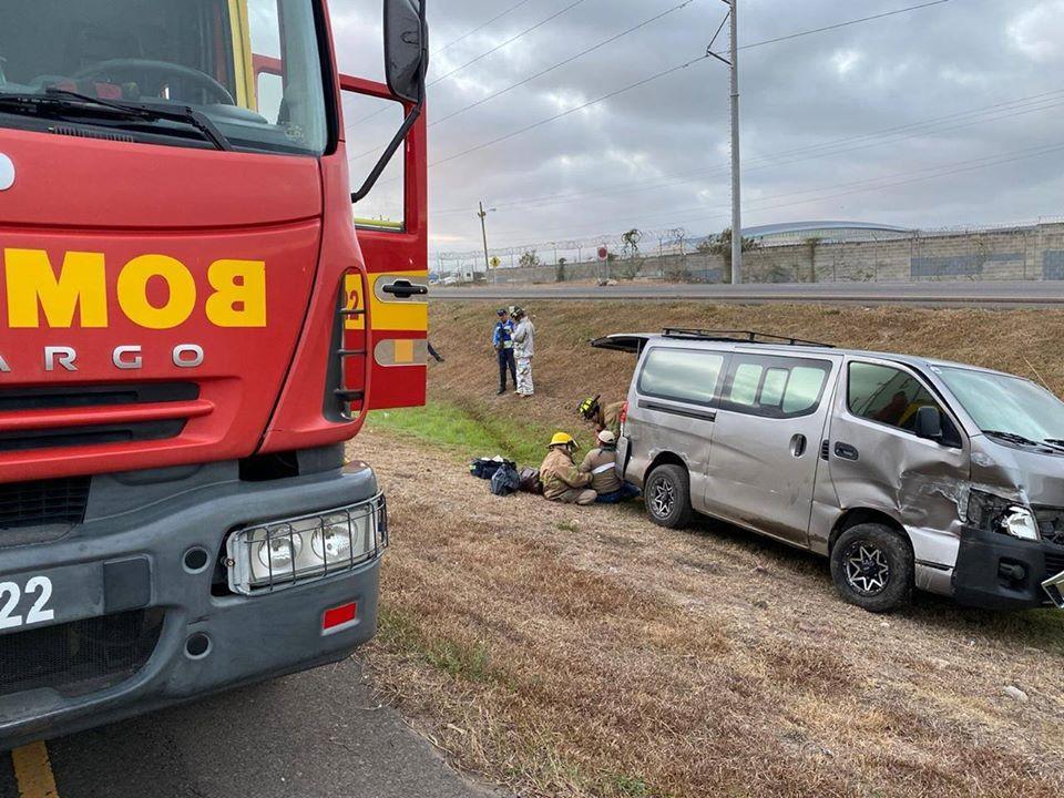 Una persona lesionada deja accidente frente a Palmerola