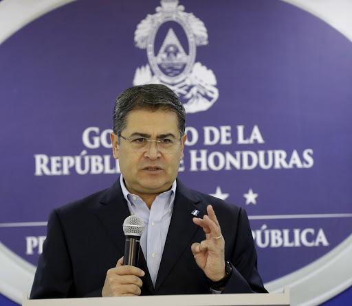 Presidente Juan Orlando Hernández.
