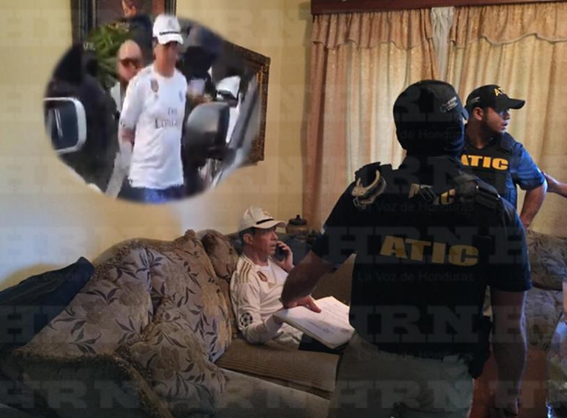 """""""Esposado"""" fue sacado de su vivienda el comisionado Leonel Sauceda, acusado de lavado de activos"""