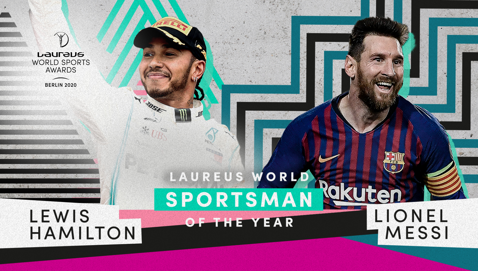 Messi y Hamilton fueron elegidos como los dos mejores deportistas de 2019.