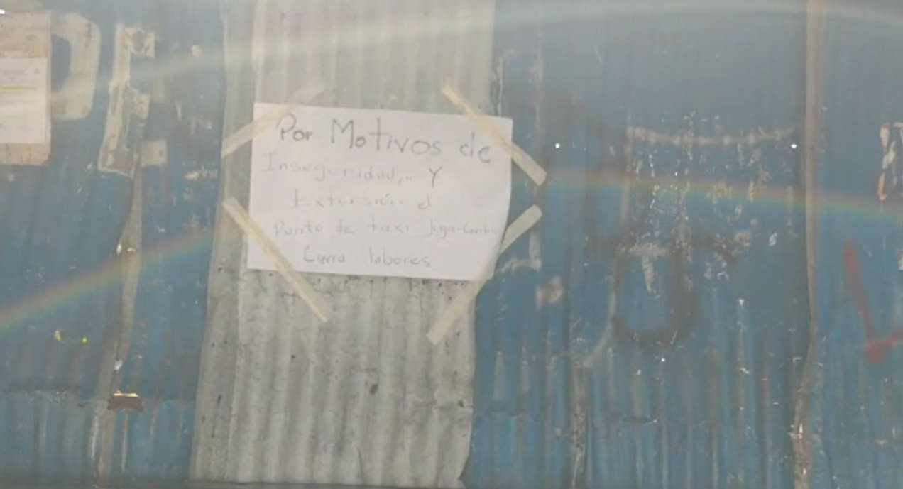 Por extorsión cierran punto de taxi de la colonia La Joya de Tegucigalpa