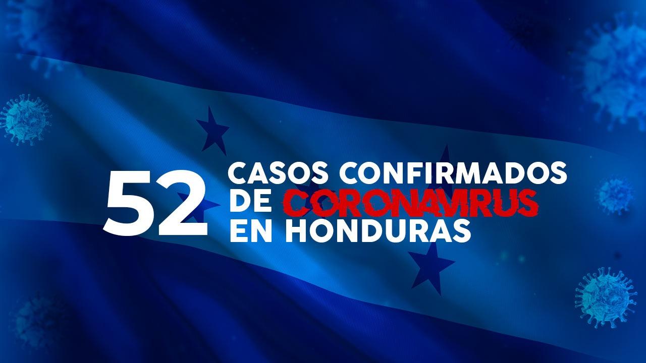 Honduras registra 52 casos confirmados por coronavirus