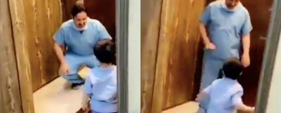 Conmovedor video: médico rechaza abrazo de su hijo por miedo de contagiarlo de covid-19