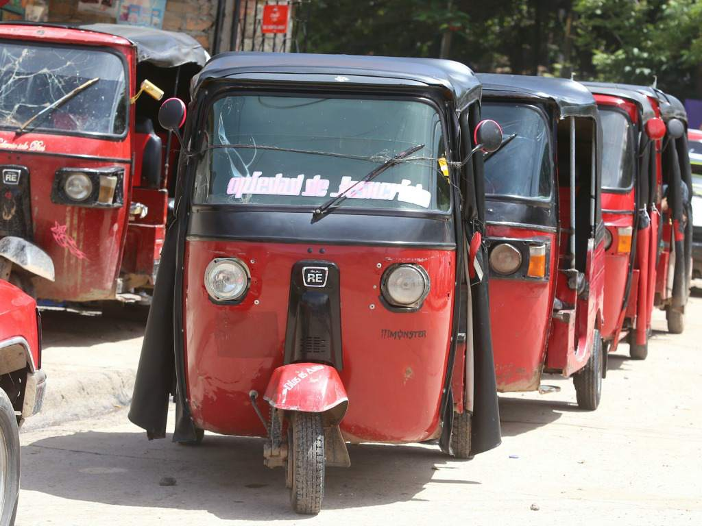 Mototaxis en Honduras.
