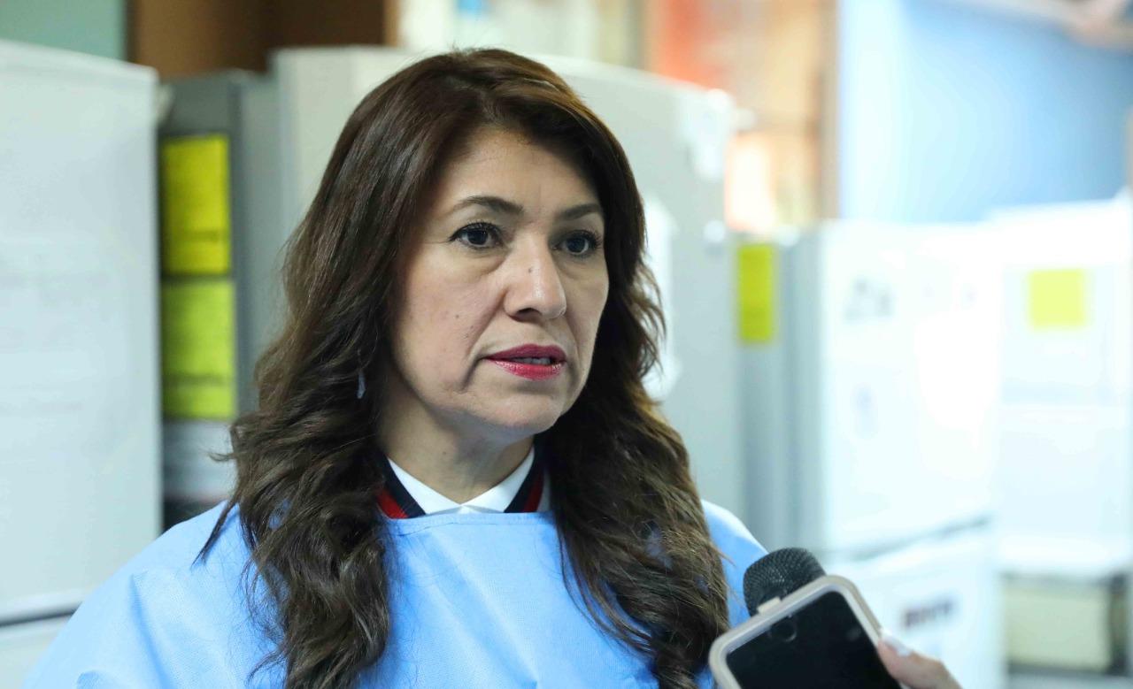 Alba Flores titular de Salud y Piedad Huerta representante de la OPS, resultaron negativas a aprueba por covid-19