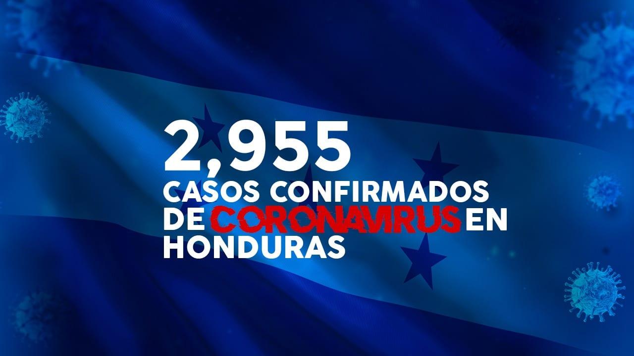 Con 2,955 casos positivos de covid-19, Honduras se acerca a los tres mil
