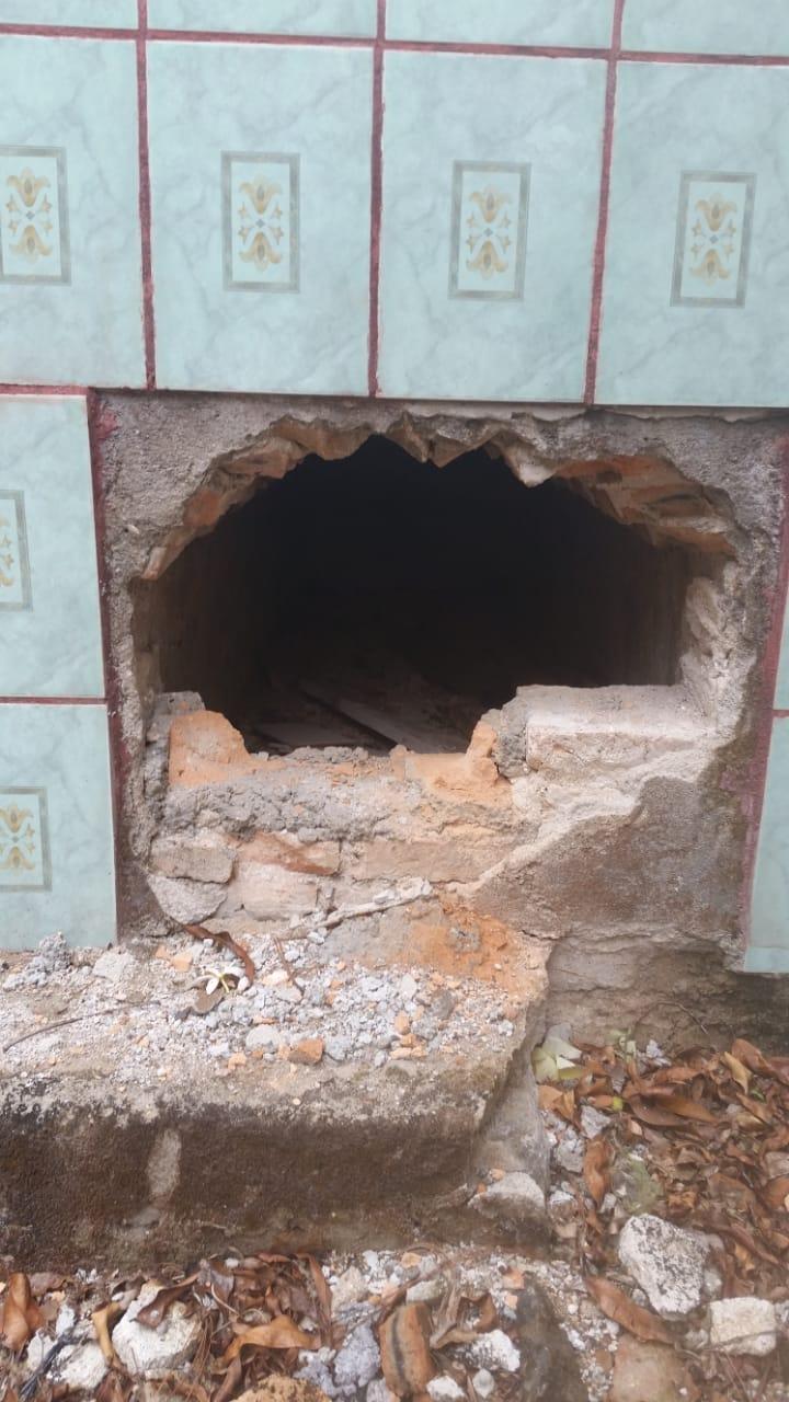 Roban esqueletos en cementerios de Erandique, Lempira