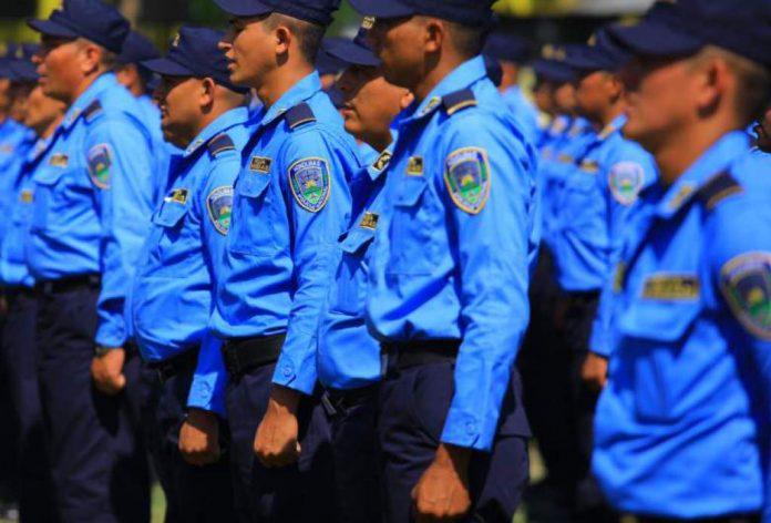 Policías con covid-19