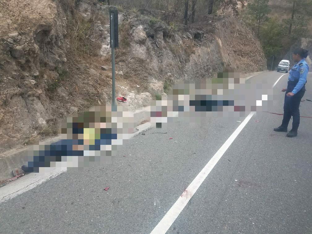 Honduras: mueren dos agentes de Tránsito en un accidente vial en la carretera CA-5