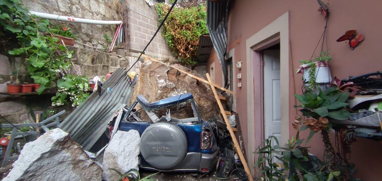 Derrumbes, casas dañadas e inundaciones; los estragos de las lluvias en la capital hondureña