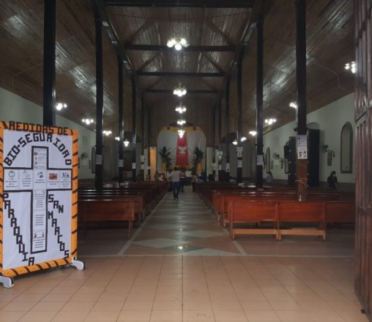 Ajustan detalles para la apertura del Templo. Foto Carlos Sorto, Radio HRN