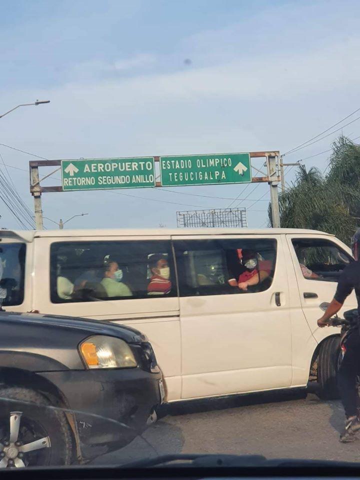 Indignación por buses urbanos llenos de pasajeros en San Pedro Sula