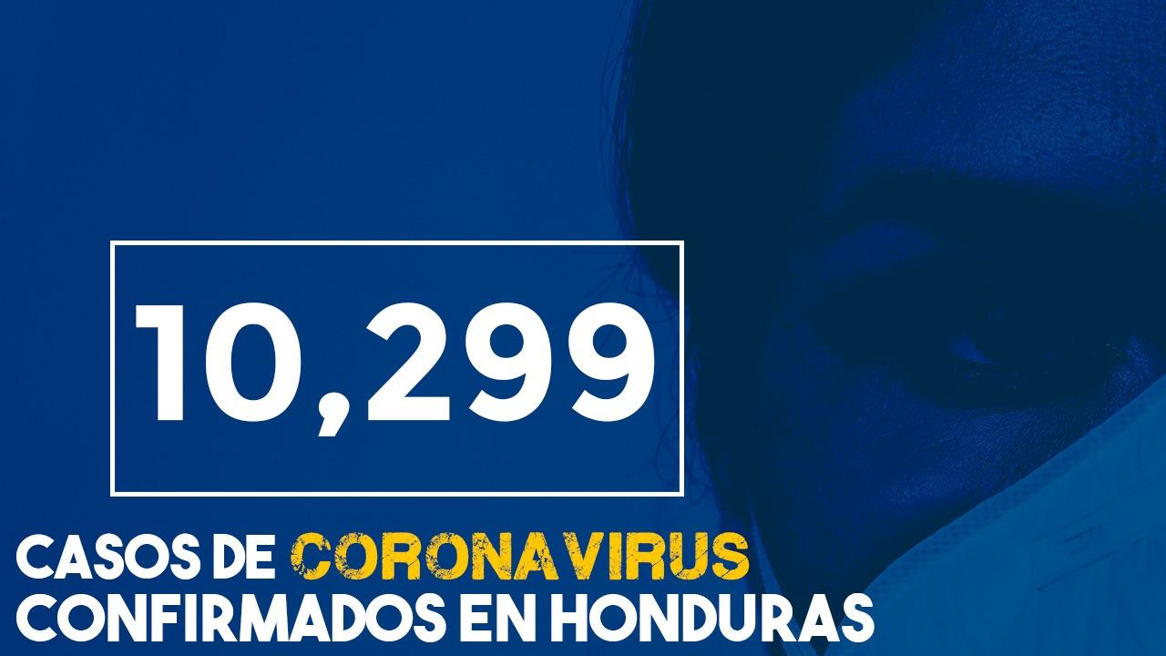Francisco Morazán contabiliza este 17 de junio, 484 contagiados y se eleva la suma a 10,299 en Honduras