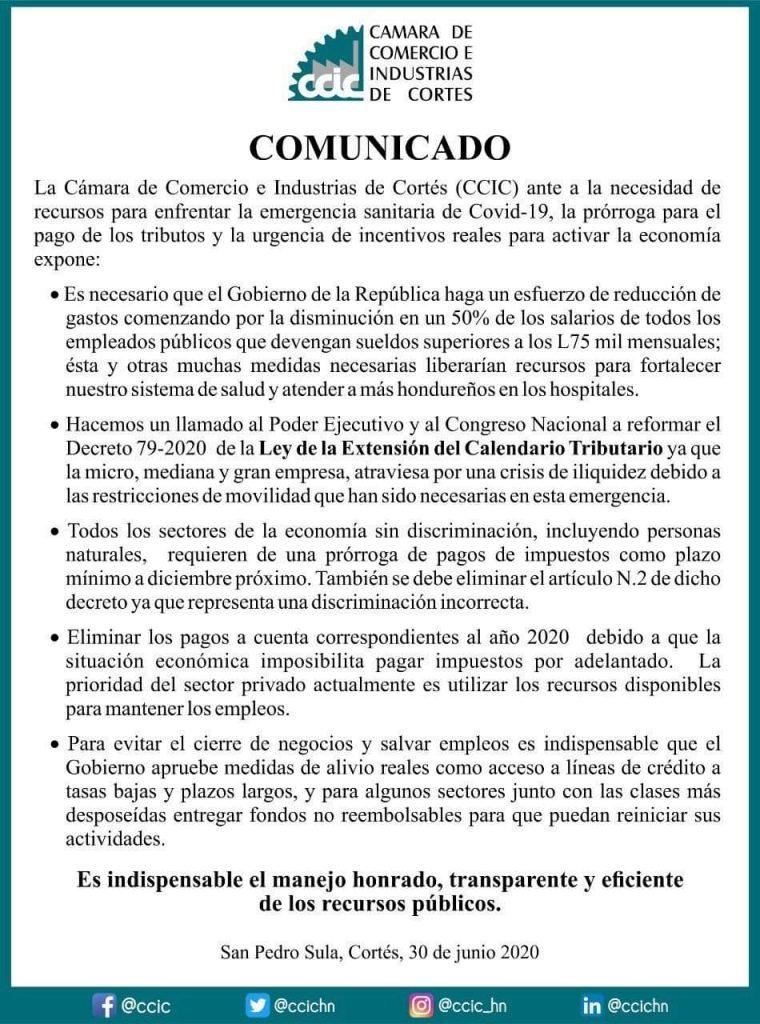 Comunicado de la CCIC