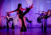 Presentación de danza árabe de Gracie Mandujano, bellydancer hondureña.