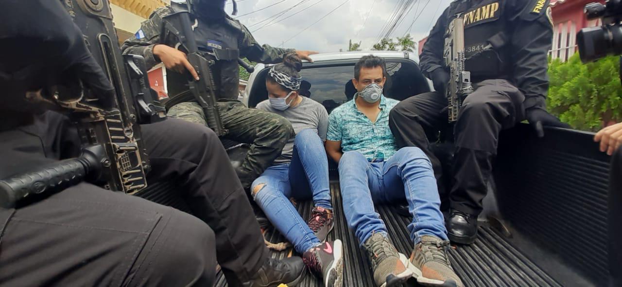 Capturan a pareja de la MS-13 con droga valorada en más de un millón de lempiras en San Pedro Sula
