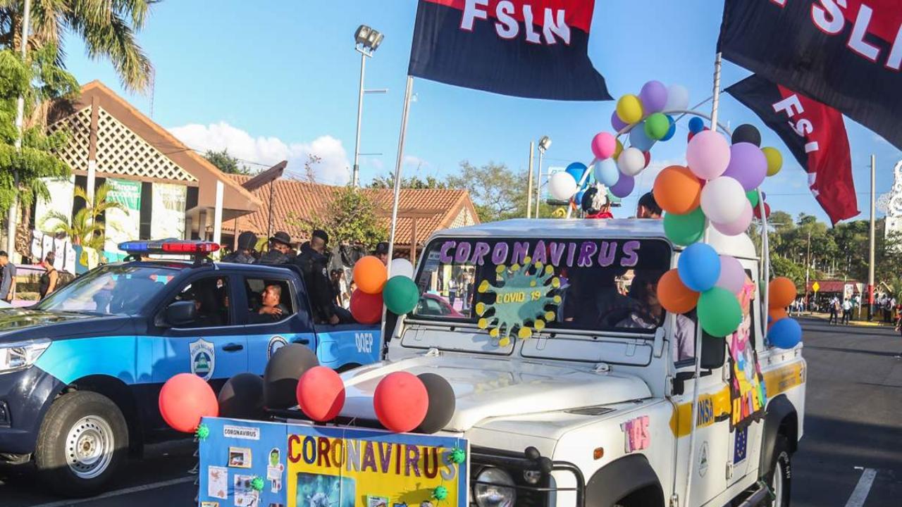 Nicaragua: Gobierno organiza 2,800 actividades de aglomeración en pleno avance del coronavirus