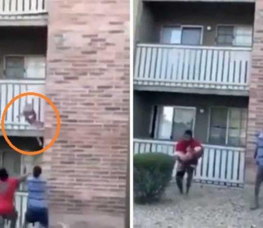 Hombre rescata a niño