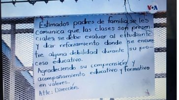 Clases presenciales en Nicaragua