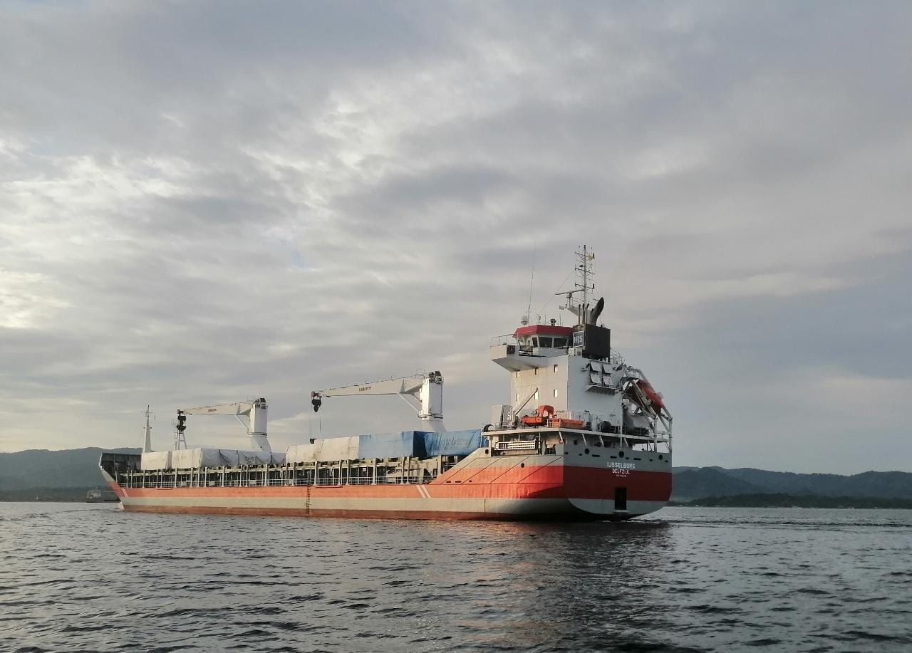 A pocas horas de atracar en Puerto Cortés la embarcación con los dos hospitales móviles