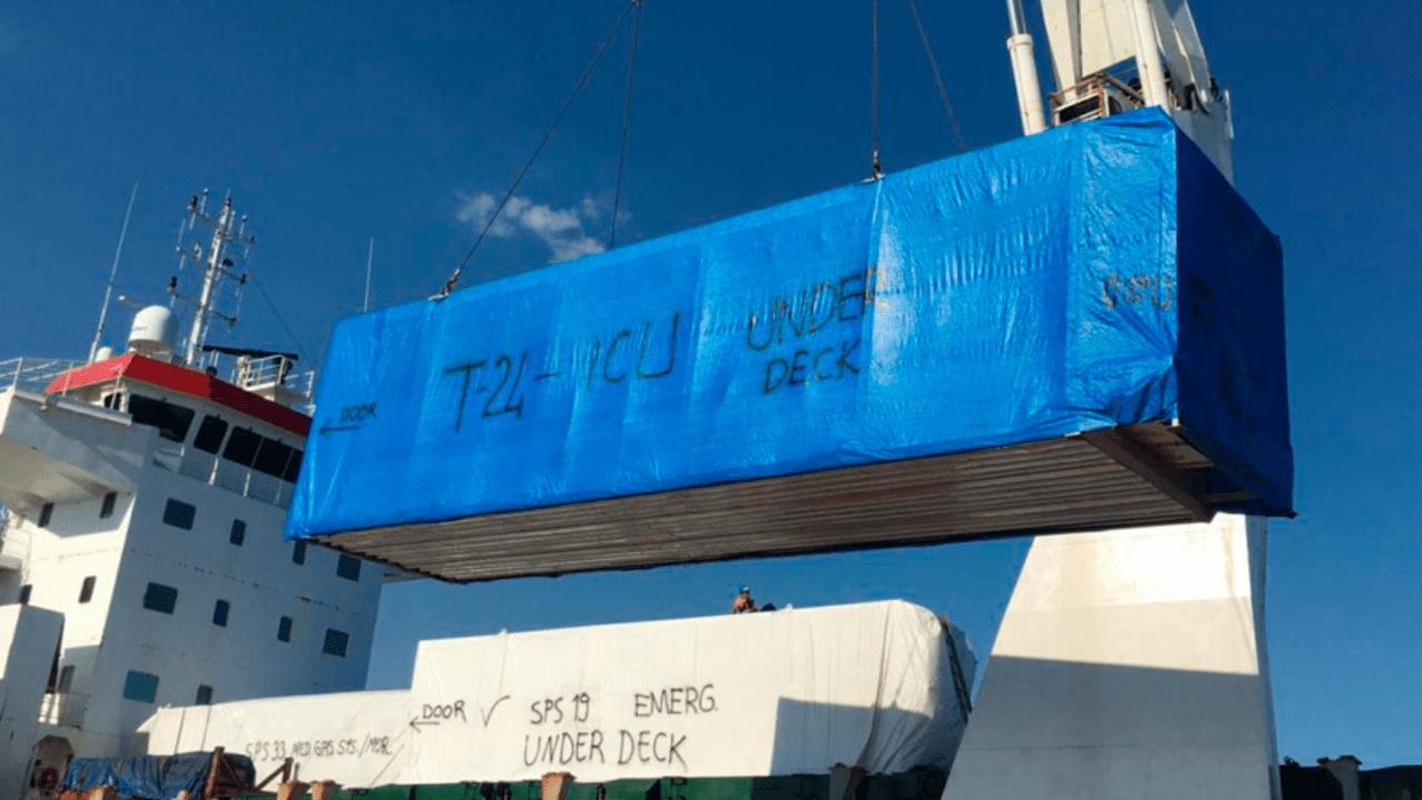¿Vienen los dos hospitales móviles que compró Invest-H en el buque que llegará esta noche a Honduras?