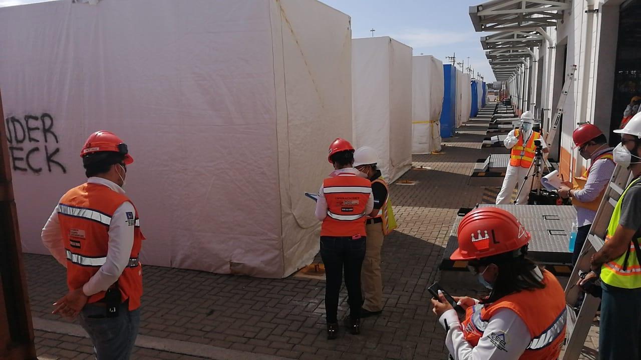 Ministerio Público inicia inspección de contenedores con hospitales móviles en Puerto Cortés