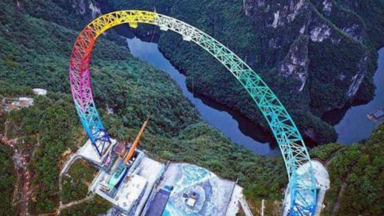 ¡Solo para valientes! China inaugura el columpio más alto del mundo, ¿te atreverías a subirte?