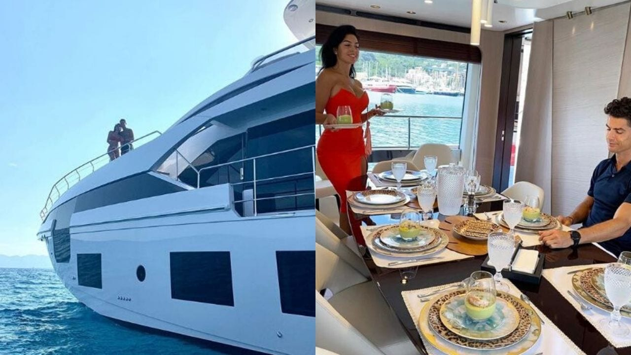 Cristiano y Georgina se muestran románticos a bordo de su yate valuado en 18 millones de dólares