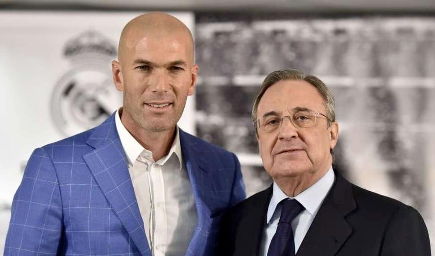 """Zidane es """"una bendición del cielo"""" para el Real Madrid, asegura Florentino Pérez"""