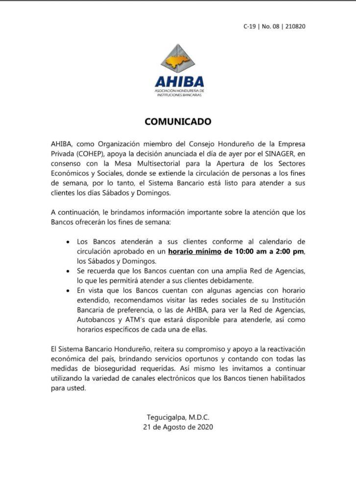 Comunicado AHIBA